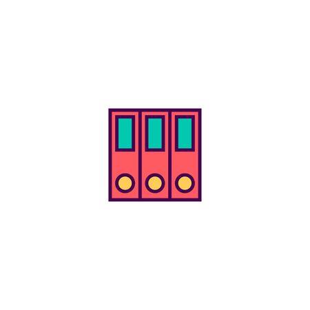 folder icon line design. Business icon vector illustration