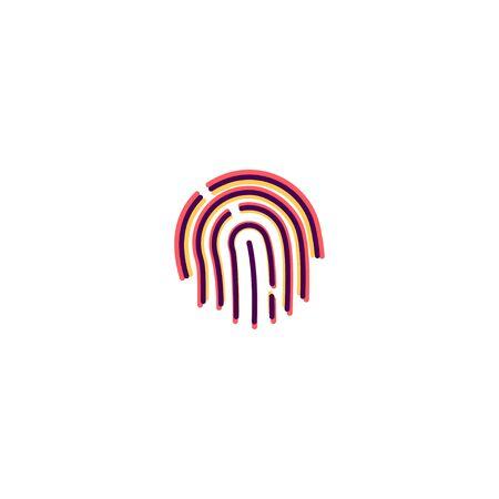 Finger print icon design. Essential icon vector illustration