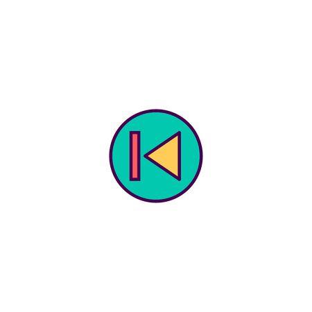 Previous icon design. Essential icon vector illustration