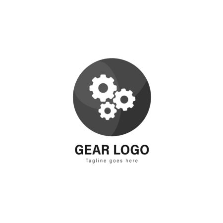 Automotive logo template design. Automotive logo with modern frame isolated on white background