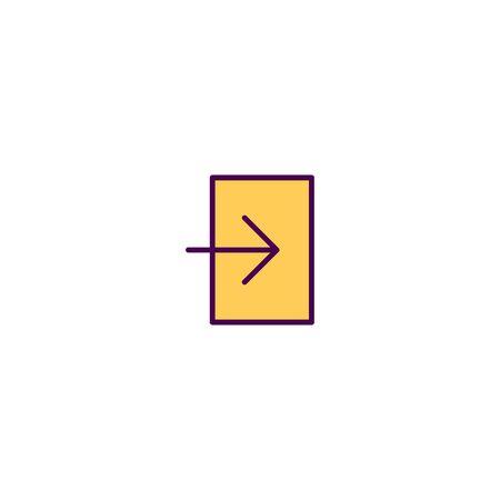 Login icon design. Essential icon vector illustration