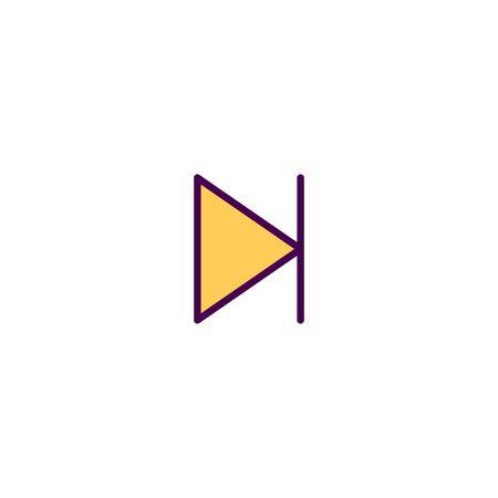 Next icon design. Essential icon vector illustration