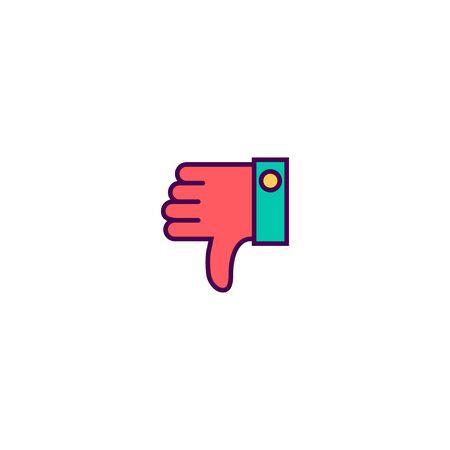 Dislike icon design. Essential icon vector illustration