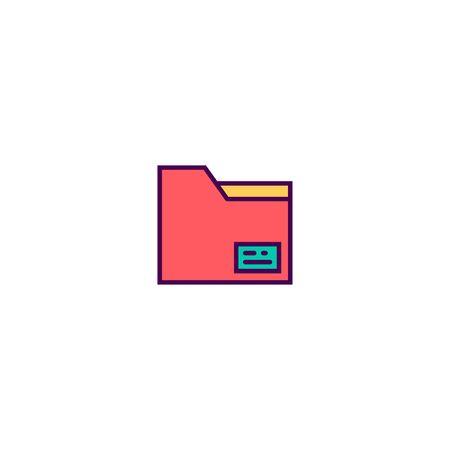 Folder icon design. Essential icon vector illustration
