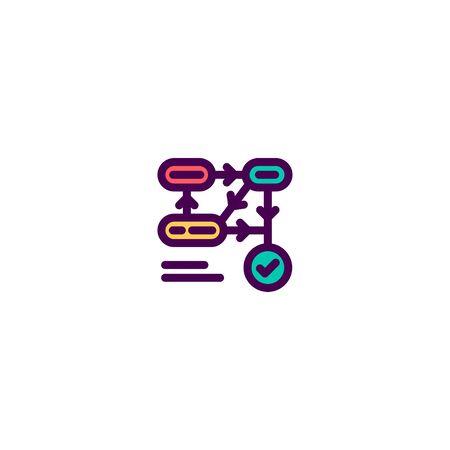 Flow chart icon design. e-commerce icon vector illustration