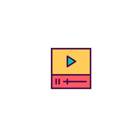 Video Player icon design. Essential icon vector illustration  イラスト・ベクター素材