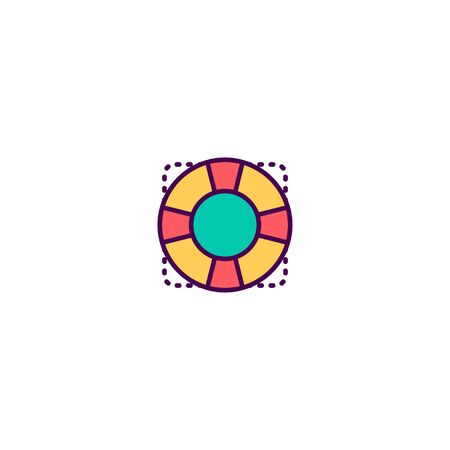 Help icon design. Essential icon vector illustration