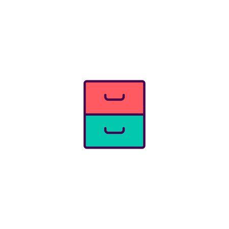 Archive icon design. Essential icon vector illustration