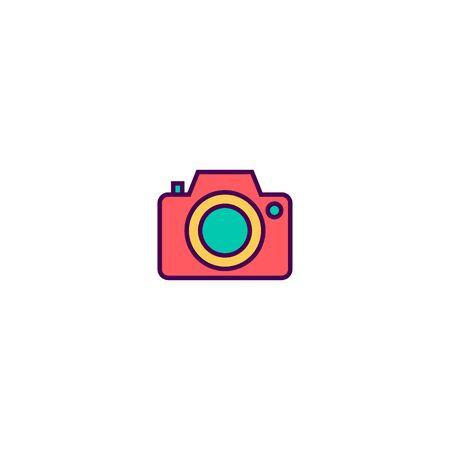 Photo camera icon design. Essential icon vector illustration