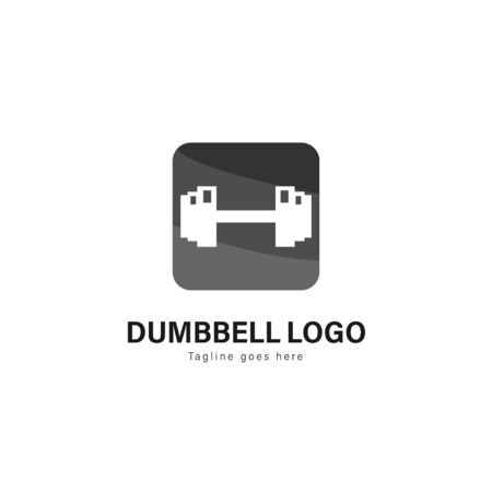 Fitness logo template design. Fitness logo with modern frame isolated on white background 写真素材 - 129493259