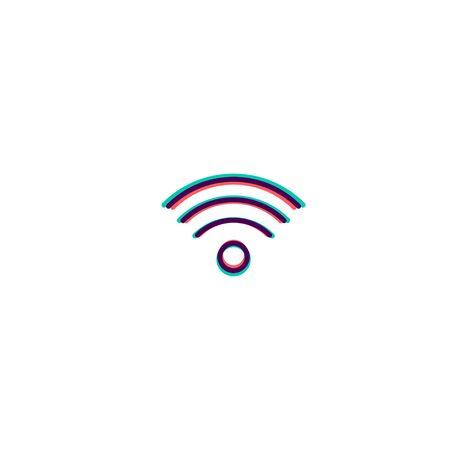 Wifi icon design. Essential icon vector illustration  イラスト・ベクター素材