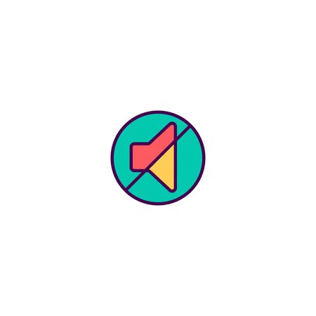 Mute icon design. Essential icon vector illustration Çizim