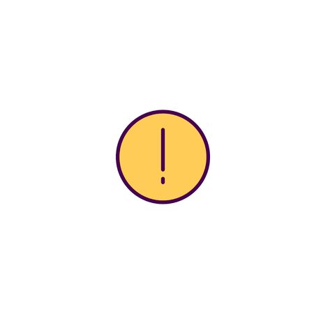 Warning icon design. Essential icon vector illustration Иллюстрация