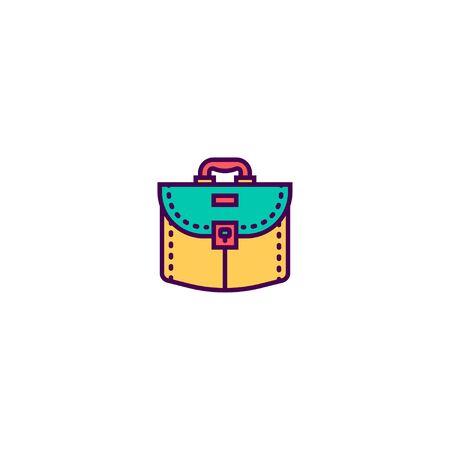 suitcase icon line design. Business icon vector illustration