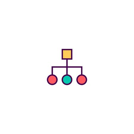 diagram icon line design. Business icon vector illustration