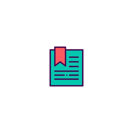 Bookmark icon design. Essential icon vector illustration