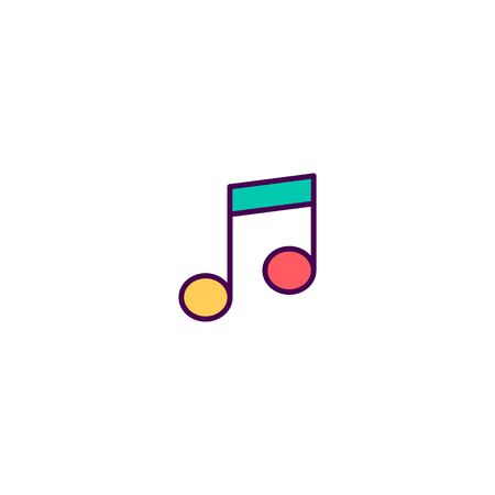 Music player icon design. Essential icon vector illustration