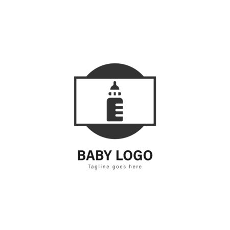 Baby logo template design. baby logo with modern frame isolated on white background Archivio Fotografico - 129493559