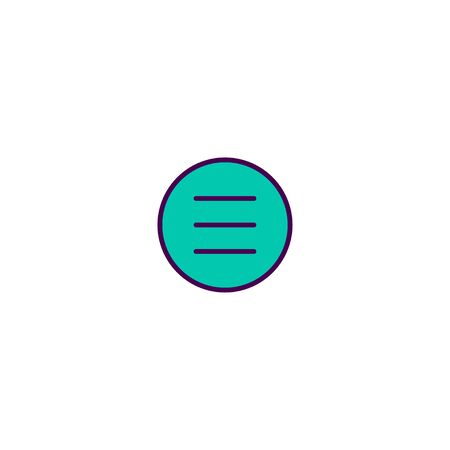 Menu icon design. Essential icon vector illustration Illustration