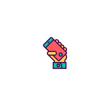 Smart phone icon design. Essential icon vector illustration
