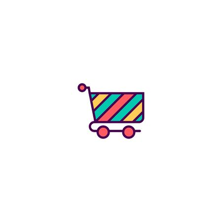 cart icon line design. Business icon vector illustration Illustration