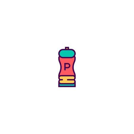 Pepper icon design. Gastronomy icon vector illustration