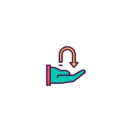 Receive icon design. Marketing icon vector illustration