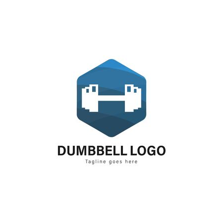Fitness logo template design. Fitness logo with modern frame isolated on white background 写真素材 - 129494049