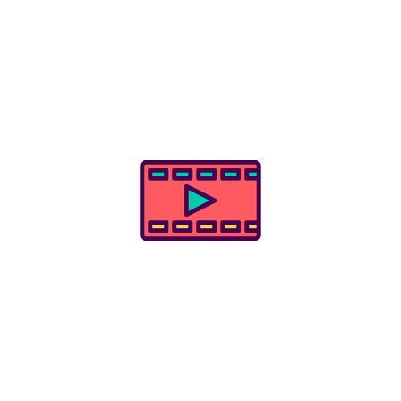 Video Player icon design. Photography and video icon vector illustration