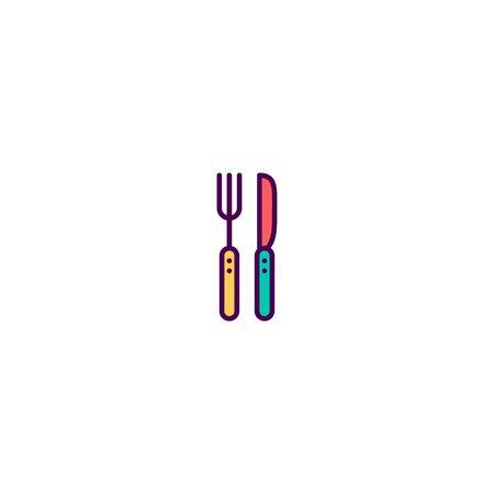 Cutlery icon design. Gastronomy icon vector illustration Çizim