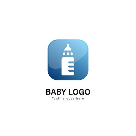 Baby logo template design. Baby logo with modern frame isolated on white background Archivio Fotografico - 129494298