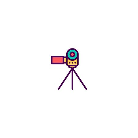 Video Camera icon design. Video icon vector illustration Standard-Bild - 129494351