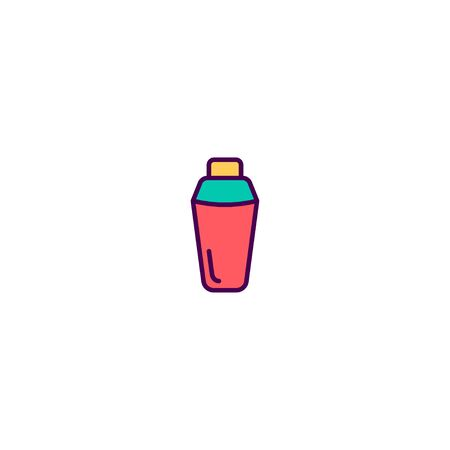 Thermos icon design. Gastronomy icon vector illustration Stock Illustratie