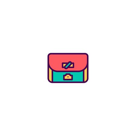 Bag icon design. Photography and video icon vector illustration Stock Illustratie