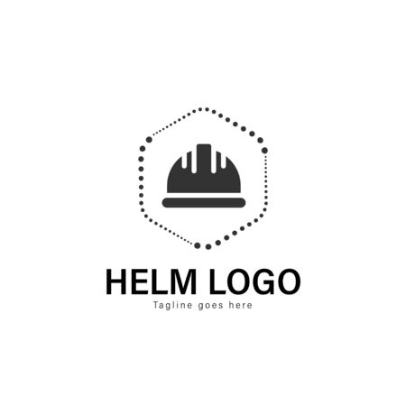 Construction logo template design. Construction logo with modern frame isolated on white background Banque d'images - 129494668