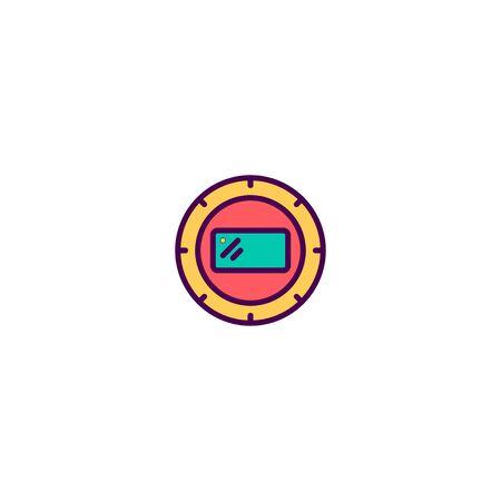 Camera flash icon design. Photography and video icon vector illustration Stock Illustratie