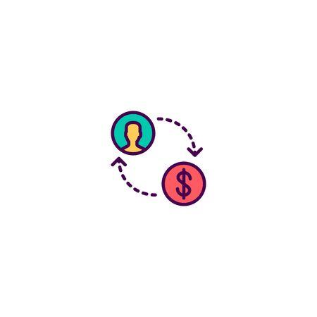 Exchange icon design. Marketing icon vector illustration Çizim