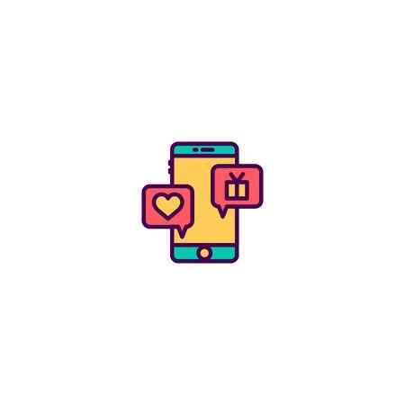Chat icon design. Marketing icon vector illustration  イラスト・ベクター素材