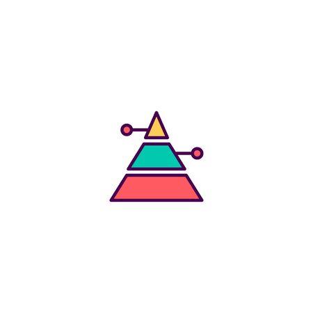 Pyramid icon design. Marketing icon vector illustration