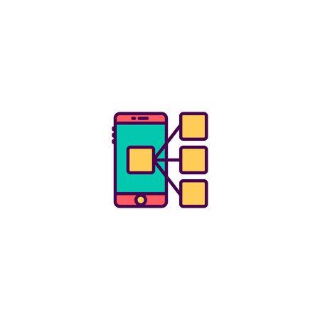 Smart phone icon design. Marketing icon vector illustration