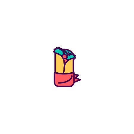 Kebab icon design. Gastronomy icon vector illustration
