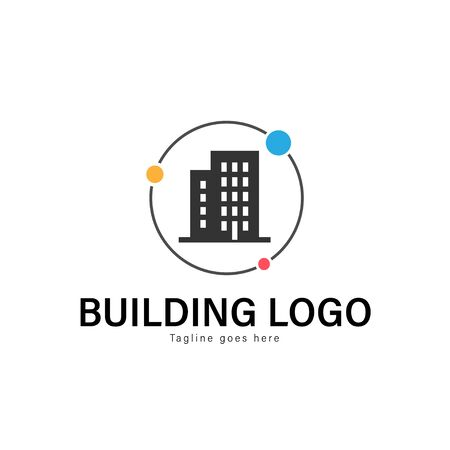 Building logo template design. Building logo with modern frame isolated on white background Stock Illustratie