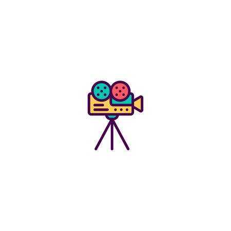 Video Camera icon design. Video icon vector illustration Standard-Bild - 129495650