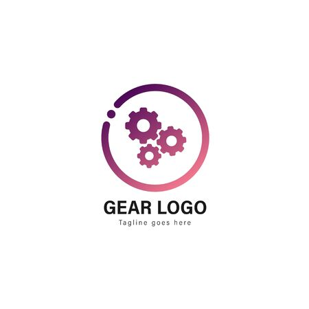 Automotive logo template design. Automotive logo with modern frame isolated on white background  イラスト・ベクター素材