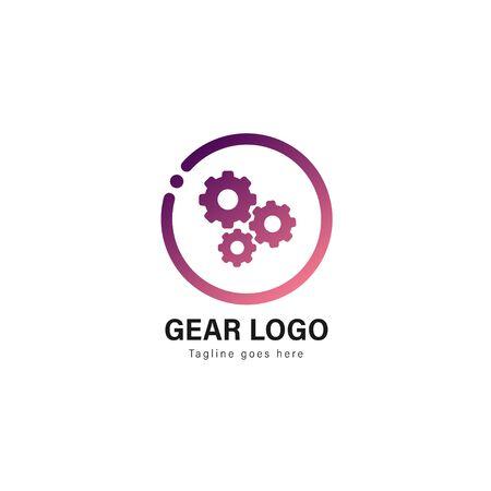 Automotive logo template design. Automotive logo with modern frame isolated on white background Illustration