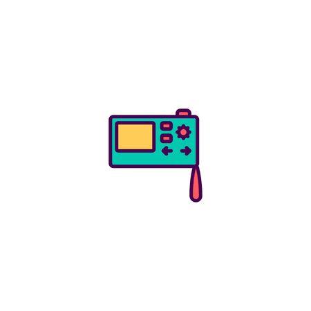 Digital camera icon design. Photography and video icon vector illustration