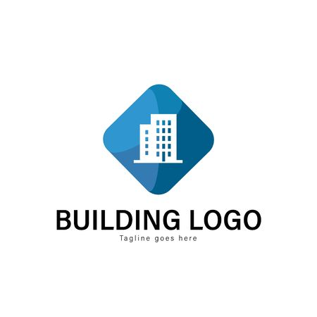 Building logo template design. Building logo with modern frame isolated on white background Stockfoto - 129495999