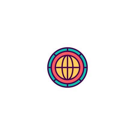 Coin icon design. Marketing icon vector illustration Ilustrace