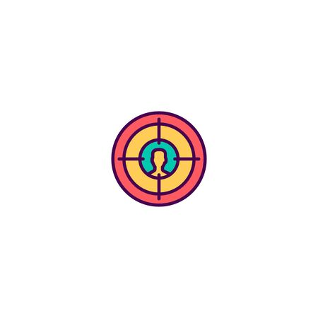 Target icon design. Marketing icon vector illustration