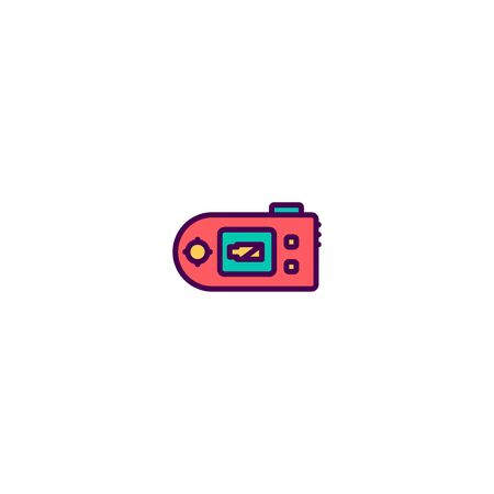 Digital camera icon design. Photography and video icon vector illustration